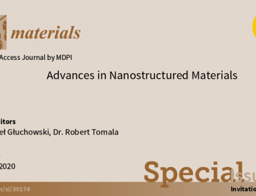 Paweł Głuchowski and Robert Tomala as Guest Editors in a special issue of Materials MDPI