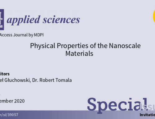 Paweł Głuchowski and Robert Tomala as Guest Editors in a special issue of Applied Sciences MDPI