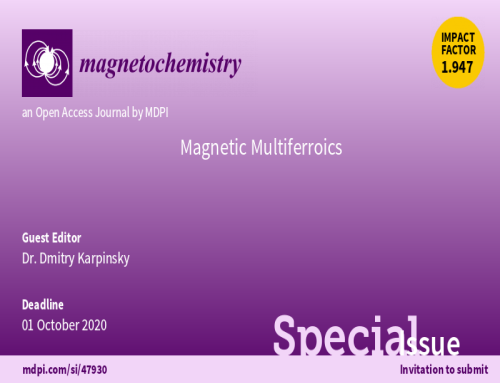 Dmitry Karpinsky as a Guest Editor in a special issue of Magnetochemistry MDPI